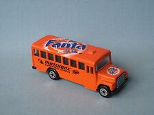 Matchbox School Bus Fanta Chinese Promo Orange Toy Model Coach Toy