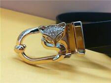 In 925 Real Silver With Round Zircon Women's New Fox Design Small Belt Buckles