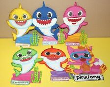 BABY SHARK GLITTER BIRTHDAY PARTY SUPPLY DECORATION FOAM FOMI FIGURES 6 PACK