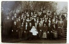 1910s Large Family Gathering Queens Park Toronto Postcard Pork Pie Hats Reunion