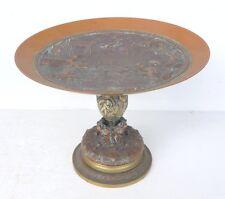 Belle Ancienne COUPE sur Pied en Bronze Napoléon III XIXème siècle Décor Scènes