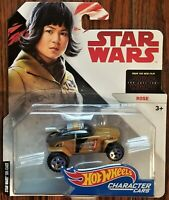 Disney Hot Wheels Character Cars Highly Collectible Rose The Last Jedi NEW RARE