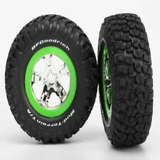 Traxxas 5865 BFGoodrich KM2 Tires & SCT Wheels (Green) Front Slash