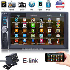 """7"""" 2 DIN IN Dash Car Stereo Video MP5 Player AUX E-Link For Android With Camera"""