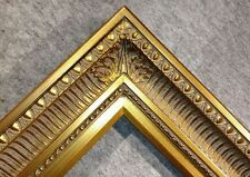 "4.25"" WIDE Fancy Gold Ornate Oil Painting Wood Picture Frame 655G 11""x14"""