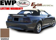 E-Z On Ford Mustang Convertible Top & Heated Glass Window SADDLE Sailcloth 94-04