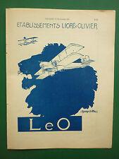 1930-32 PUB LIORE ET OLIVIER LeO AVION HYDRAVION LION GEORGES VILLA ORIGINAL AD