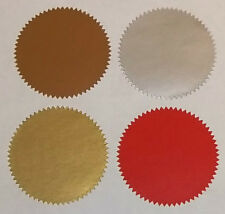 Bronze Silver Gold Red Company Legal Wafer Seals, Certificate, Wedding, Stickers