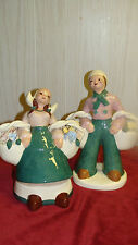 KAYE OF HOLLYWOOD PAIR OF DUTCH BOY AND GIRL WITH FLOWER BASKETS **