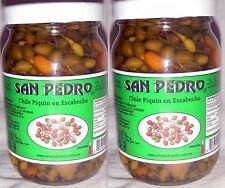 2 X San Pedro Chile Piquin Del Monte En Escabeche Hot & Spicy Pepper 2 Bottles