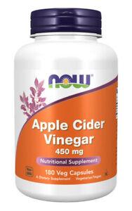 Now Foods, Apple Cider Vinegar (Apfelessig), 450mg, 180 Kapseln