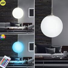 LED Kugel Pendel Decken Hänge Lampe RGB Fernbedienung Leuchte Glas Big Light