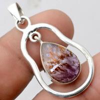 Cacoxenite Super Seven 7 Mineral - Brazil 925 Silver Pendant Jewelry 2729