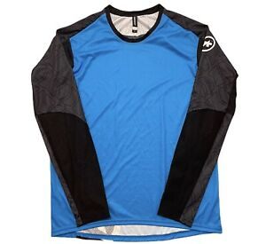 ASSOS OFF ROAD TRAIL LONGSLEEVE JERSEY MEN'S LARGE BLUE $149 CYCLING