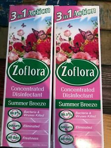 X2 ZOFLORA 3in1 Antibacterial Disinfectant Concentrated SUMMER BREEZE 250 ML