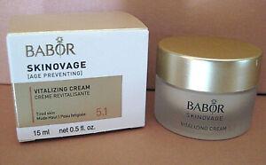 Babor Skinovage Age Preventing Vitalizing Cream gegen müde Haut 15 ml NEU OVP