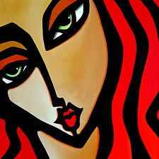 Original Abstract Modern contemporary woman portrait Art Painting Fidostudio