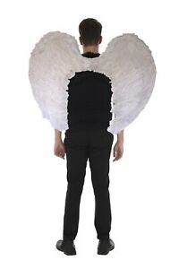 Zac's Alter Ego 100 x 75cm Very Large White Fancy Dress Angel Feather Wings