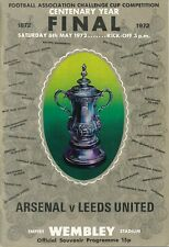 FA CUP FINAL PROGRAMME 1972 Leeds United v Arsenal