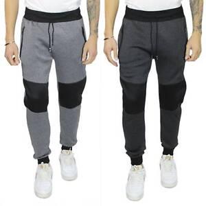 Pantaloni Tuta Uomo Cotone Felpato Invernale Grigio Comodo Pantatuta Sportivi
