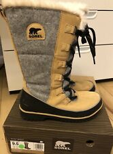 Women's SOREL TIVOLI HIGH II Tan/Curry waterproof insulated boots, Sz 9.5