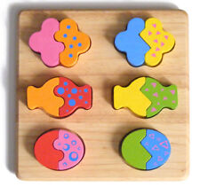 NEW PinToy Mix + Match Board, chunky Wooden Puzzle, toddler preschool age 2+