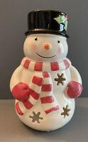 St Nicholas Square Snowman Tealight Holder
