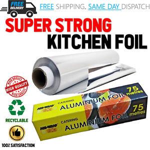 Aluminium Kitchen Catering Tin Foil FoodGrade Roast Baking Oven Wrap 75m x 300mm