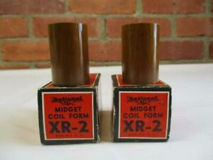 2 National Midget Ham Radio Coil Form XR-2 New Old Stock In Box