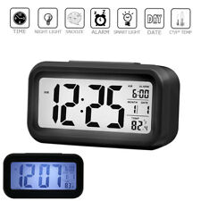 Digital LED Alarm Clock Snooze Back Light Time Calendar Thermometer Temperature