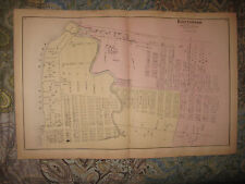 ANTIQUE 1873 NEWTOWN RAVENSWOOD ASTORIA CORONA MASPETH QUEENS NEW YORK CITY MAP