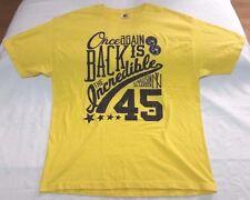Undrcrwn Double Nickel Back is the Incredible 45 t-shirt men sz XL yellow Jordan