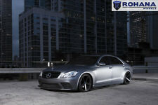 20x9 +25 20x11 +28 Rohana RC22 5x112 Black Rims Fit Mercedes S550 2009 Staggered