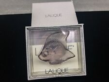 Lalique Crystal Fish Sculpture Figurine – Grey (Gray) – New In Box