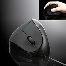 Wired Ergonomic Style Vertical Optical USB Mouse Wrist Healing for Laptop PC