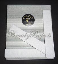 (50pcs) Professional 80/100 Grit Zebra Jumbo Nail Files Square Shape 7x1 Acrylic