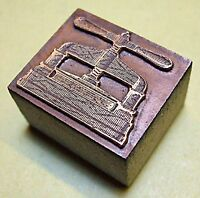 """METAL BOOK PRESS"" PRINTING BLOCK."