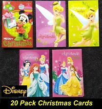 20 Pack Large Disney Theme Christmas Cards 19 x 12cm - with Envelopes