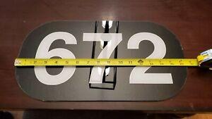 Locomotive number boards