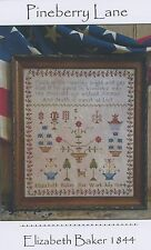Pineberry Lane - Elizabeth Baker 1844 Sampler Cross Stitch Pattern