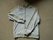 Men's Ben Sherman Cotton Full Zip Top Track Jacket Size Large in Beige