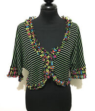 KALI OREA Cardigan Maglia Donna Viscosa Hippie Woman Rayon Sweater Sz.M - 44