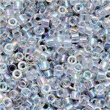 Miyuki Delica Seed Beads Size 11/0 Crystal AB 7.2g-Tube (DB051)