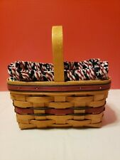 Longaberger 1994 All American Candle Basket w Protector Liner Combo