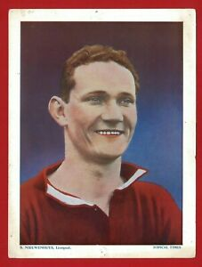 FOOTBALLERS COLOURED - LIVERPOOL - B.NIEWENHUYS - 1934 XXL TRADE CARD (SK24)