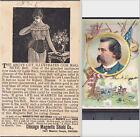Dr Thatchers Magnetic Belt 19th Century Quack Cure Civil War Gen'l J Logan Card
