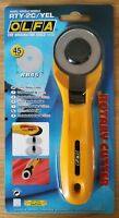 OLFA 45mm Rotary Cutter RTY-2/C Sewing Quilt cuts Fabric Leather Paper *NEW*