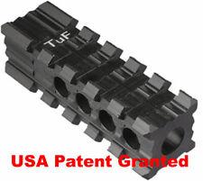 "Tufforce 5 Slots Muzzle Brake For 1/2""-28 w/ 2 Side, top Rail, USA Patent Grant"