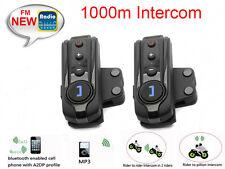 2x Bt-S1 1000m Wireless Bluetooth Fm Radio Intercom Motorcycle Helmet Headset