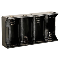 Boitier Coupleur pour 4 Piles 1,5 Volt R20 avec Contacts à Souder